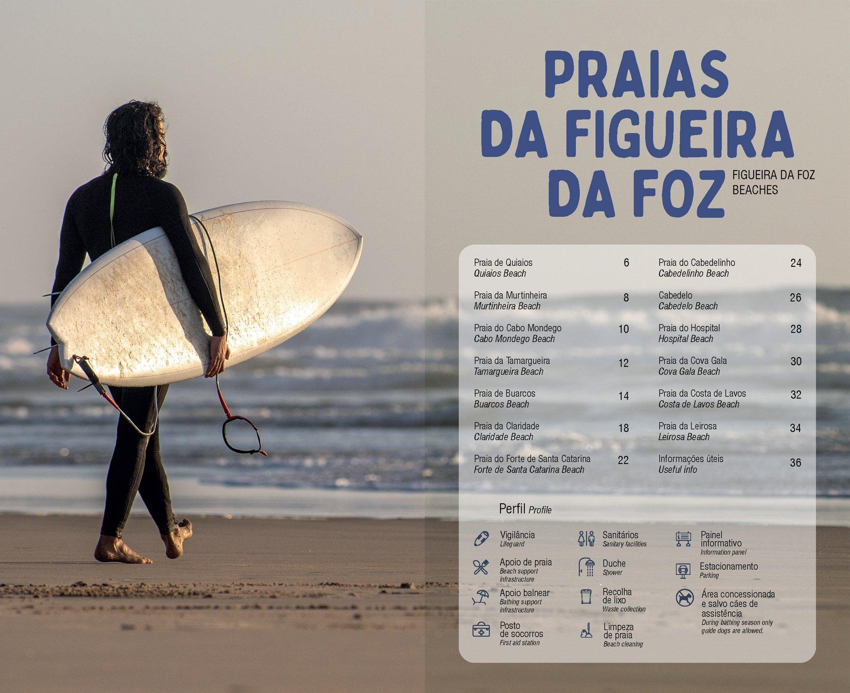 Município da FIGUEIRA DA FOZ edita guia bilingue das praias do concelho